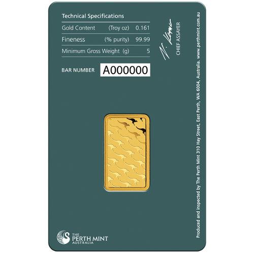 Buy 5 Gram Perth Mint .9999 Gold Bars (New) l JM Bullion™