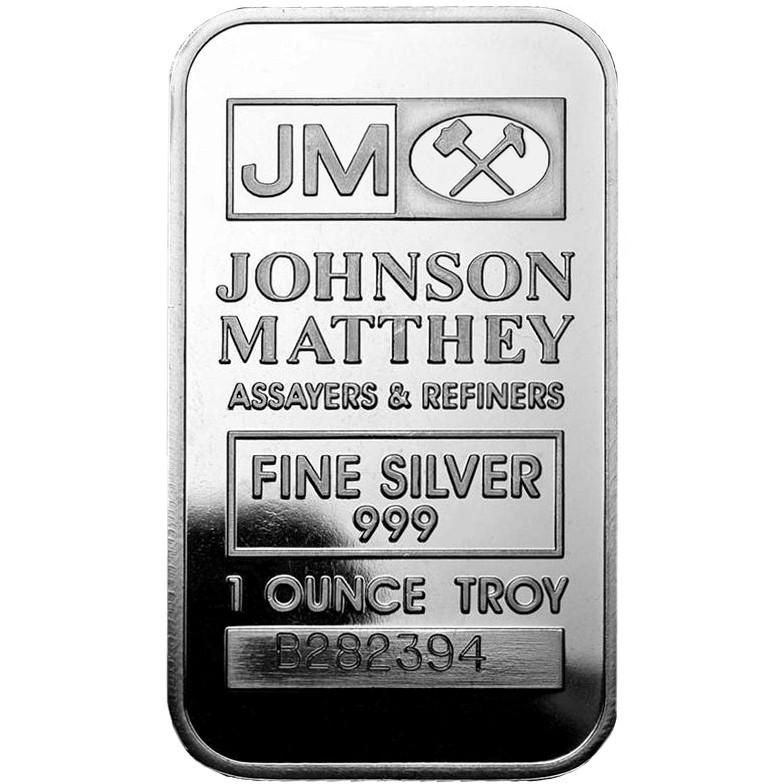 Buy 1 Oz Johnson Matthey Silver Bars Brand New L Jm Bullion
