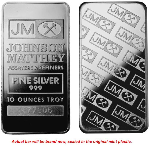 Buy New 10 Oz Johnson Matthey Silver Bars Online L Jm Bullion