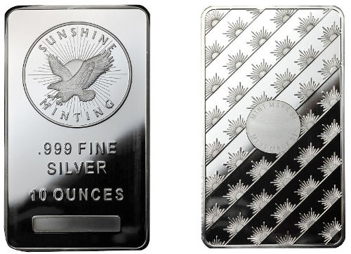 Buy 10 Oz Sunshine Silver Bars Online New L Jm Bullion