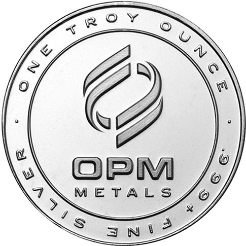 opm round front2 1 OZ. OPM Silver Rounds for Only $.69 Over Spot!