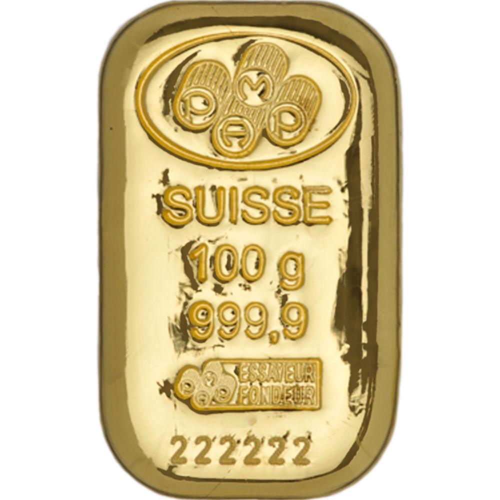 Buy 100 Gram Pamp Suisse 9999 Gold Cast Bars Jm Bullion
