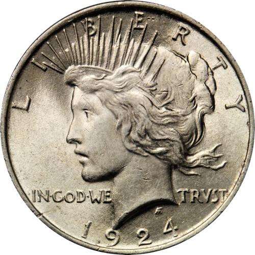 Peace Silver Dollar Coin (1921-28, 1934-35, VG)