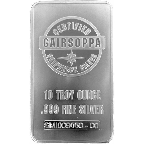 10 Troy Ounce 999 Fine Silver Bar