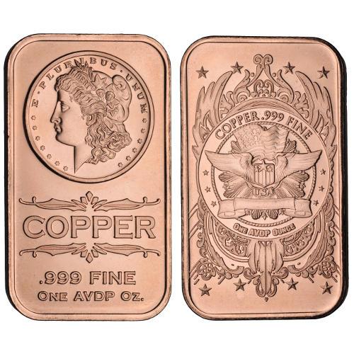 Buy 1 Oz Morgan Copper Bars Online L Jm Bullion