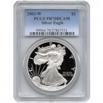 2003-w-eagle-pcgs-pr70dcam-new