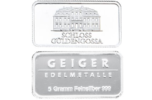 Buy 5 Gram Geiger Silver Bars Online New L Jm Bullion