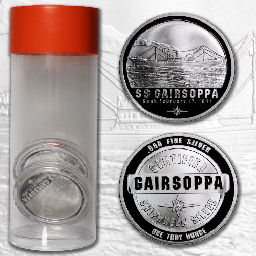 1 Oz S S Gairsoppa Shipwreck Silver Rounds Coins L Jm