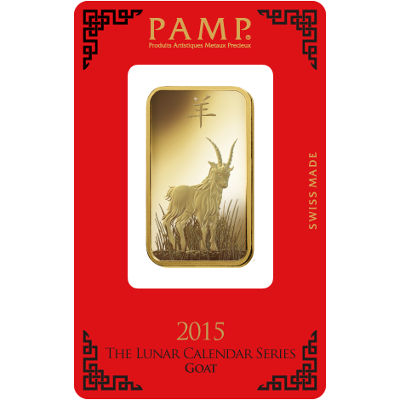 Buy 1 Oz Pamp Suisse Lunar Goat Gold Bars New L Jm Bullion
