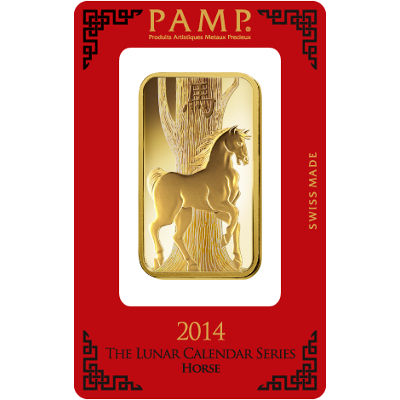 Buy 100 Gram Pamp Suisse Lunar Horse Gold Bars New L Jm