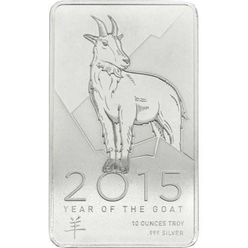 Buy 10 Oz Ntr Lunar Goat Silver Bars Online New L Jm
