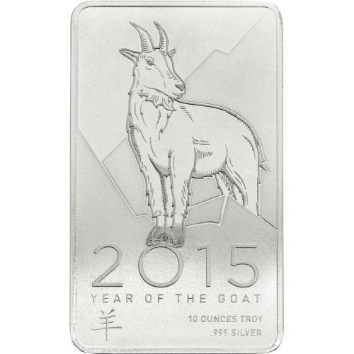 Buy 10 Oz Ntr Lunar Goat Silver Bars Online New L Jm