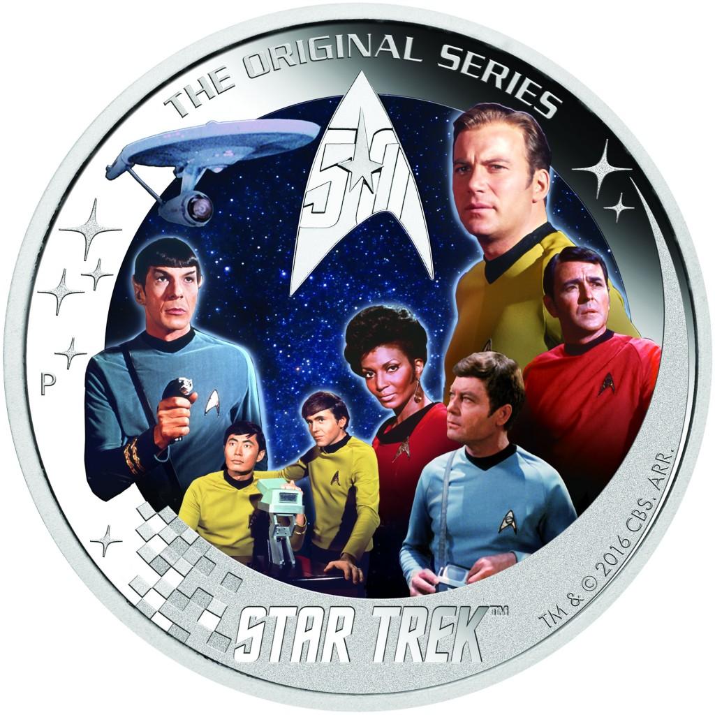 The Perth Mint 2016 2 oz Tuvalu Star Trek U.S.S. Enterpri...