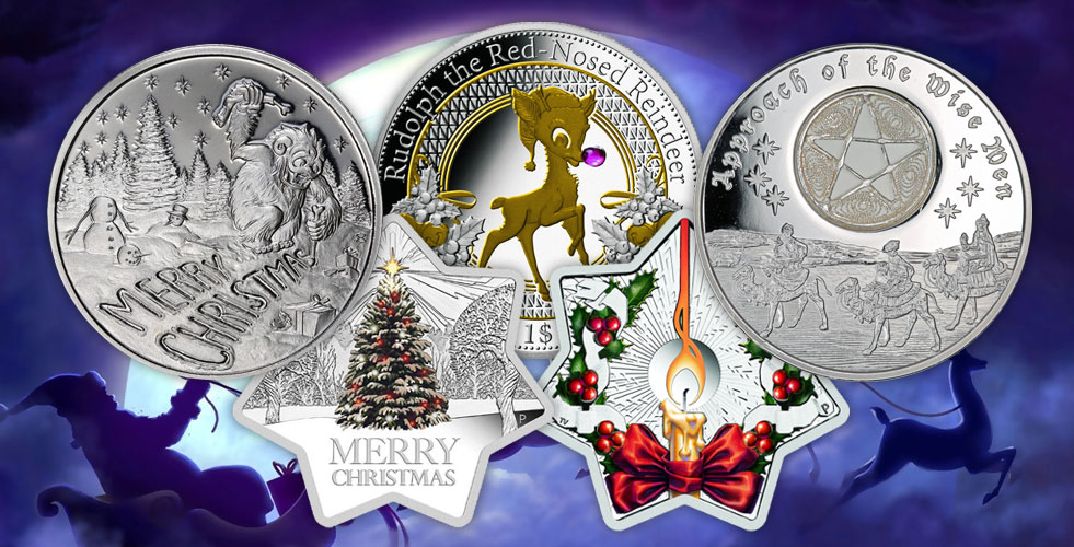 Christmas 2017 1oz Star Shaped Silver Proof Coin