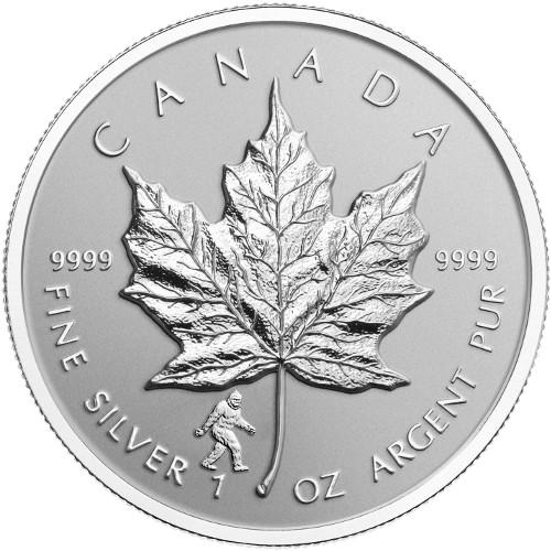 2016 1 oz Big Foot Privy Canadian Silver Maple Leaf Rever...