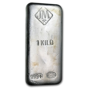 Buy 1 Kilo Johnson Matthey 999 Silver Bars Online Jm
