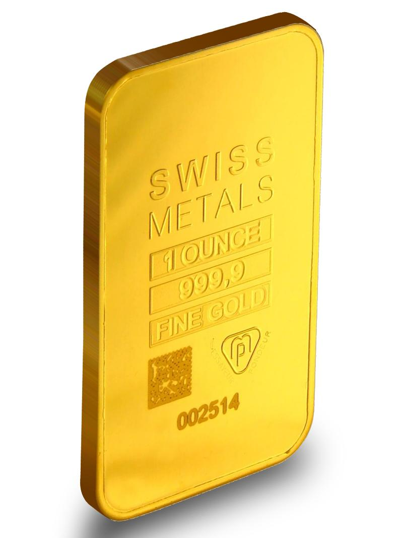 Buy 1 Oz Swiss Metals Gold Bars New W Assay Jm Bullion